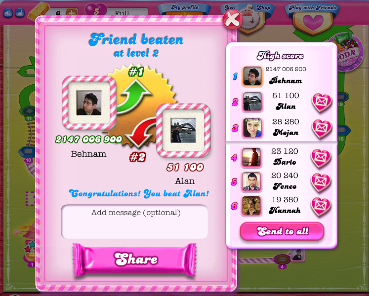 Candy Crush - Hacked